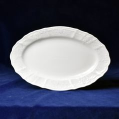 Frost no line: Dish oval 34 cm, Thun 1794 Carlsbad porcelain, Bernadotte