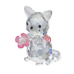 Kitten with Flower 35 x 28 mm, Crystal Gifts and Decoration PRECIOSA