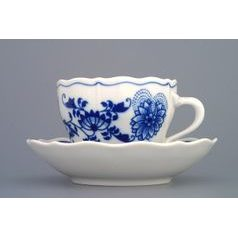 Cup and saucer A/2 plus B 0,17 l / 14 cm, Original Blue Onion Pattern