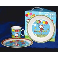 Children's dinng set Hello Kitty blue, Thun 1794