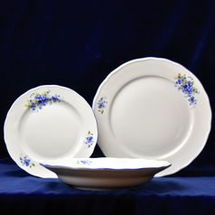 Plate set for 6 pers., Forget-me-not, Český porcelán a.s.