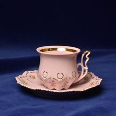Cup 130 ml and saucer 140 mm, Lenka 247, Rose China