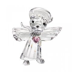 Angel with Heart 43 x 31 mm, Crystal Gifts and Decoration PRECIOSA