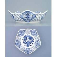 Dish pentagonal perforated 19 cm, Original Blue Onion Pattern
