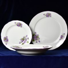 Plate set for 6 pers., Violet, Cesky porcelan a.s.