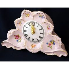 Fireplace clock 20 x 13 cm, Lenka 247, Rose China