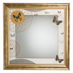 Mirror Butterflies 45 x 45 cm, glass, Charlotte, Goebel Artis Orbis