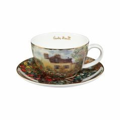 Cup and saucer Artist's House 7 cm / 0,25 l, Porcelain, C. Monet, Goebel Artis Orbis