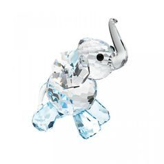 Elephant Calf (blue) 52 x 37 mm, Crystal Gifts and Decoration  PRECIOSA