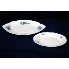 Cake set fro 6 persons, Thun 1794 Carlsbad porcelain, BERNADOTTE Forget-me-not-flower