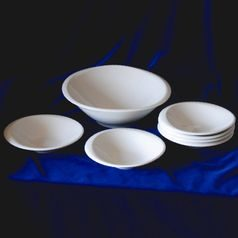 Compot set for 6 persons, Future white, Thun 1794 Carlsbad porcelain, FUTURE