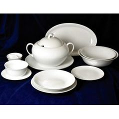 Dining set for 6 pers., Coups white, Thun 1794 Carlsbad porcelain
