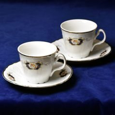 Cup 210 ml and saucers, 2 pcs., Thun 1794, Bernadotte Arms