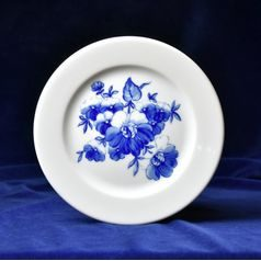 Plate breakfast 21 cm, blue flower, Cesky porcelan a.s.