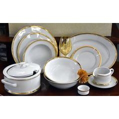Dining set for 6 pers., Sabina gold, Leander 1907