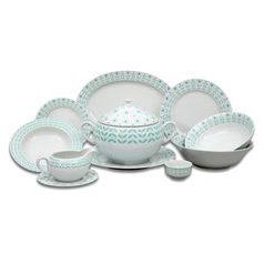Dining set for 6 pers., Thun 1794 Carlsbad porcelain, Opal 80519