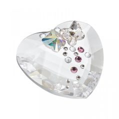 Butterfly Heart 40 x 40 mm, Crystal Gifts and Decoration PRECIOSA