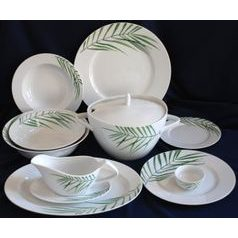 Dining set for 6 persons, Thun 1794 Carlsbad porcelain, SYLVIE 80325