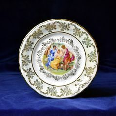 Plate dessert 19 cm, The Three Graces  plus  gold, Frederyka Carlsbad