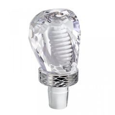 Crystal Cobra - Glass Whiskey Stopper 73 x 41 mm, Crystal Gifts and Decoration PRECIOSA
