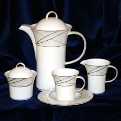 Coffee set for 6 persons (15 Pcs), Jade 3669, Tettau Porcelain