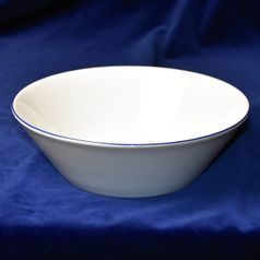 Bowl deep 24 cm, Thun 1794 Carlsbad porcelain, TOM blue