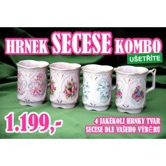 Secese COMBO - 4 random Mugs Secese, Rose China