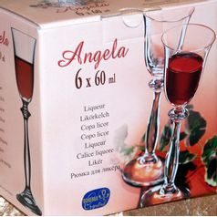 Angela 60 ml, liqueur, 6 pcs., Bohemia Crystalex
