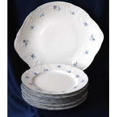 Cake set for 6 persons, Thun 1794 Carlsbad porcelain