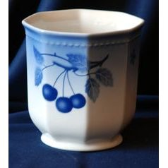 Flower pot 14 cm, Thun 1794 Carlsbad porcelain, BLUE CHERRY