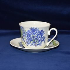 Agapanthus: Cup 420 ml and saucer breakfast, Roy Kirkham fine bone china