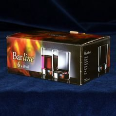 Barline 60 ml, likérka, 6 ks., Crystalex