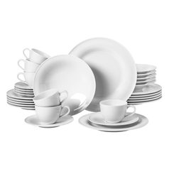Dining set 30 pcs., Beat white, Seltmann Porcelain