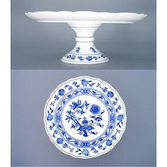 Cake plate with stand 31 cm, Original Blue Onion Pattern