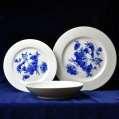 Plate set for 6 pers., blue flower, Cesky porcelan a.s.