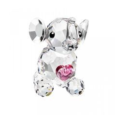 Miniature - Elephant Calf 24 x 26 mm, Crystal Gifts and Decoration PRECIOSA