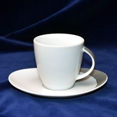 2685: Cup 220 ml plus saucer 160 mm, Thun 1794 Carlsbad porcelain, Loos