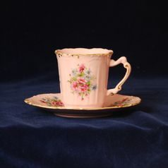 Cup 100 ml and saucer coffee Amis, Leander, rose china