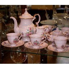 Coffee set for 6 pers., Leander, rose china