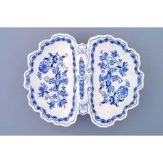 2-Compartment dish 28 cm, Original Blue Onion Pattern