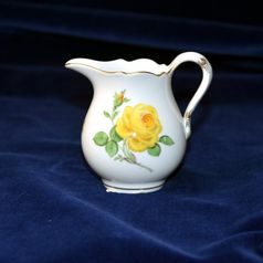 Creamer 120 ml, Yellow rose, Meissen porcelain