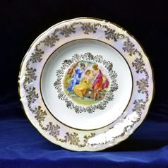 Plate deep 23 cm, The Three Graces  plus  gold, Frederyka Carlsbad