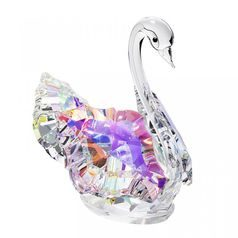 Swan (light) 73 x 68 mm, Crystal Gifts and Decoration PRECIOSA