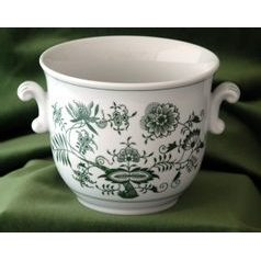 Flower pot 16 x 13,5 cm, Green Onion Pattern, Cesky porcelan a.s.