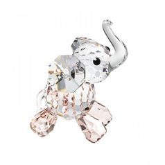 Elephant Calf (pink) 52 x 37 mm, Crystal Gifts and Decoration  PRECIOSA