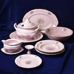 Dining set for 6 pers. Sonata, decor 13, Leander 1907, rose china