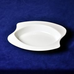 Plate deep (bowll) 27 cm curved oval, Sketch Basic, Seltmann Porcelain