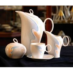 Coffee set for 6 persons, Future decorated, Thun 1794, Carlsbad porcelain, FUTURE