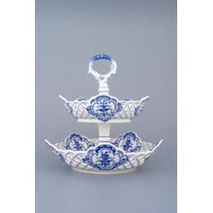 2-compartment dish, Original Blue Onion Pattern
