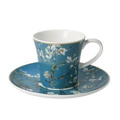 Demitasse Almond Tree 0,35 l, Porcelain, V. van Gogh, Goebel